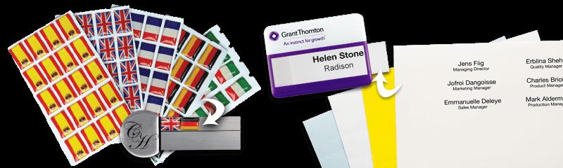 Insteekkaartjes & stickers voor nominatief badges