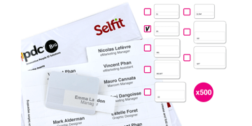 Selfit Double Line-insteekkaartjes, 70 x 18 mm, wit, 500 insteekkaartjes