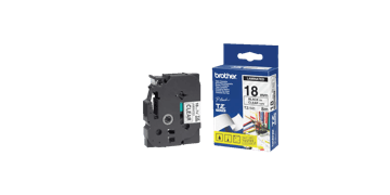 Brother P Touch Tapes, 18 mm, zwart bedrukking op transparante tape