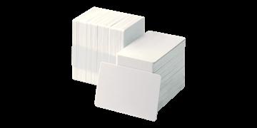 Blanco Witte PVC kaarten - 750 mic