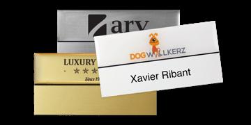 Premium Herbruikbare Naam badge, 75 X 38 mm - 18 mm zelfklevende etiketten