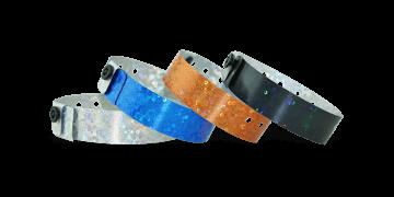 Holografische polsbandjes, 19mm, glitter metallic patroon, zonder afdruk