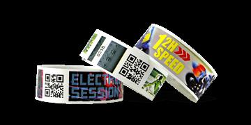 barcode polsbandjes met full colour digitale afdruk, TPS 25 mm (matte afwerking)
